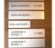 La plaque boite aux lettres modernes